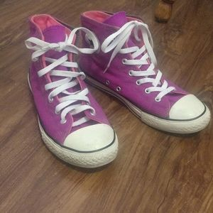 Converse All Star Purple Pink High Top Sneakers